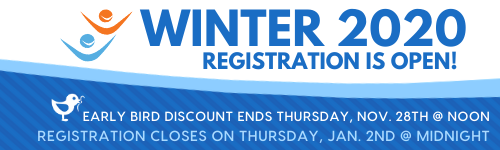 WINTER 2020 Registration Open